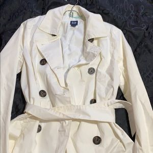 Gap off-white trench coat